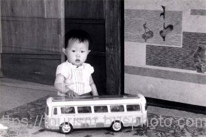 ブリキの日急バス模型